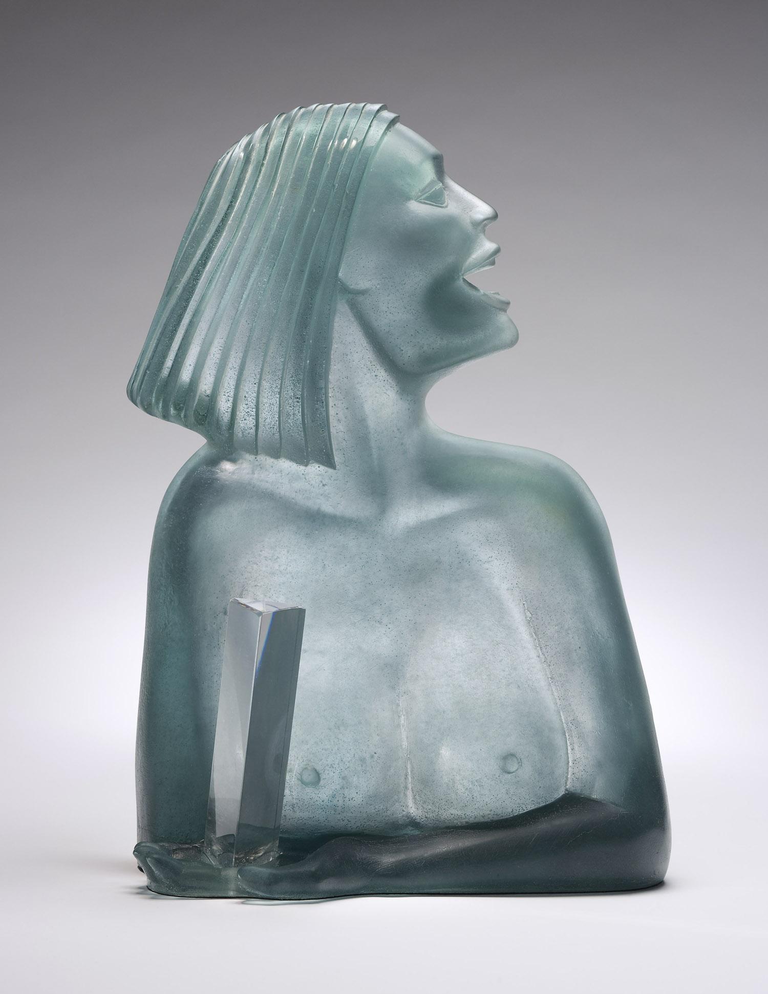 """La Dame   1984. Pate de verre, crystal. 18 x 12 x 8""""   Cristallerie Daum   Nancy, France"""