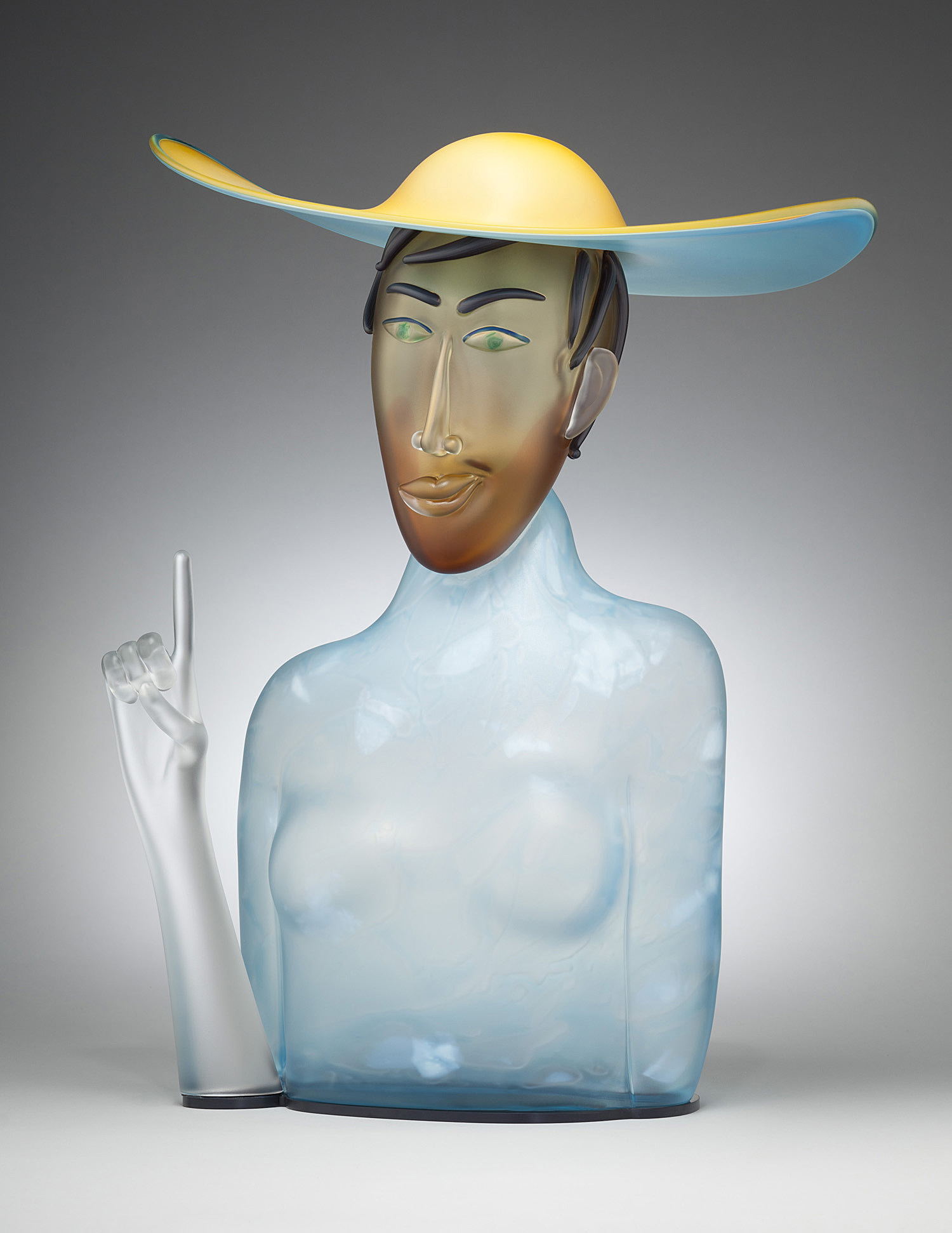 """Brilliant   2012. Blown glass, aluminum. 23¾ x 17 x 14"""""""