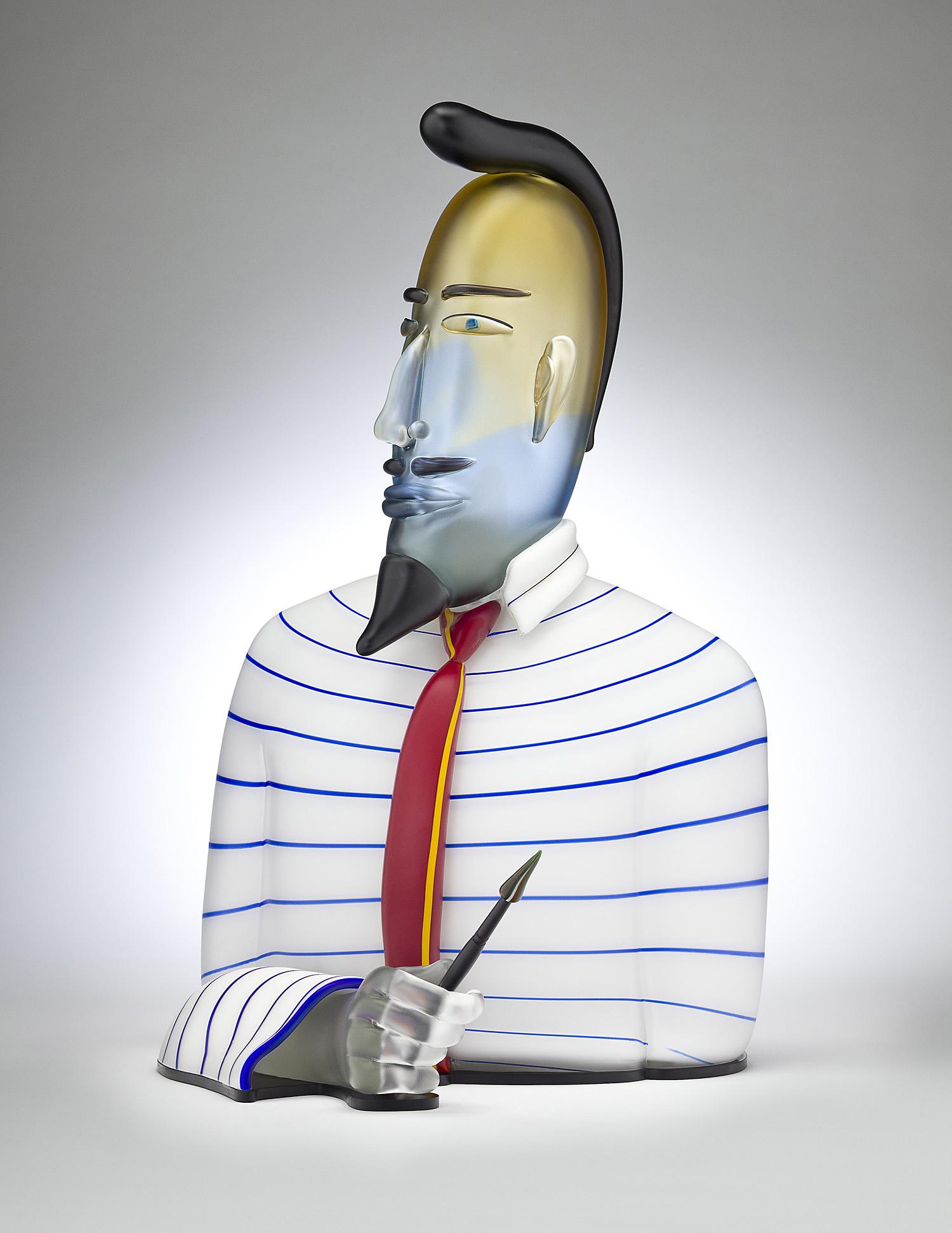 "Imagist   2011. Blown glass, aluminum. 24½ x 14½ x 13"""