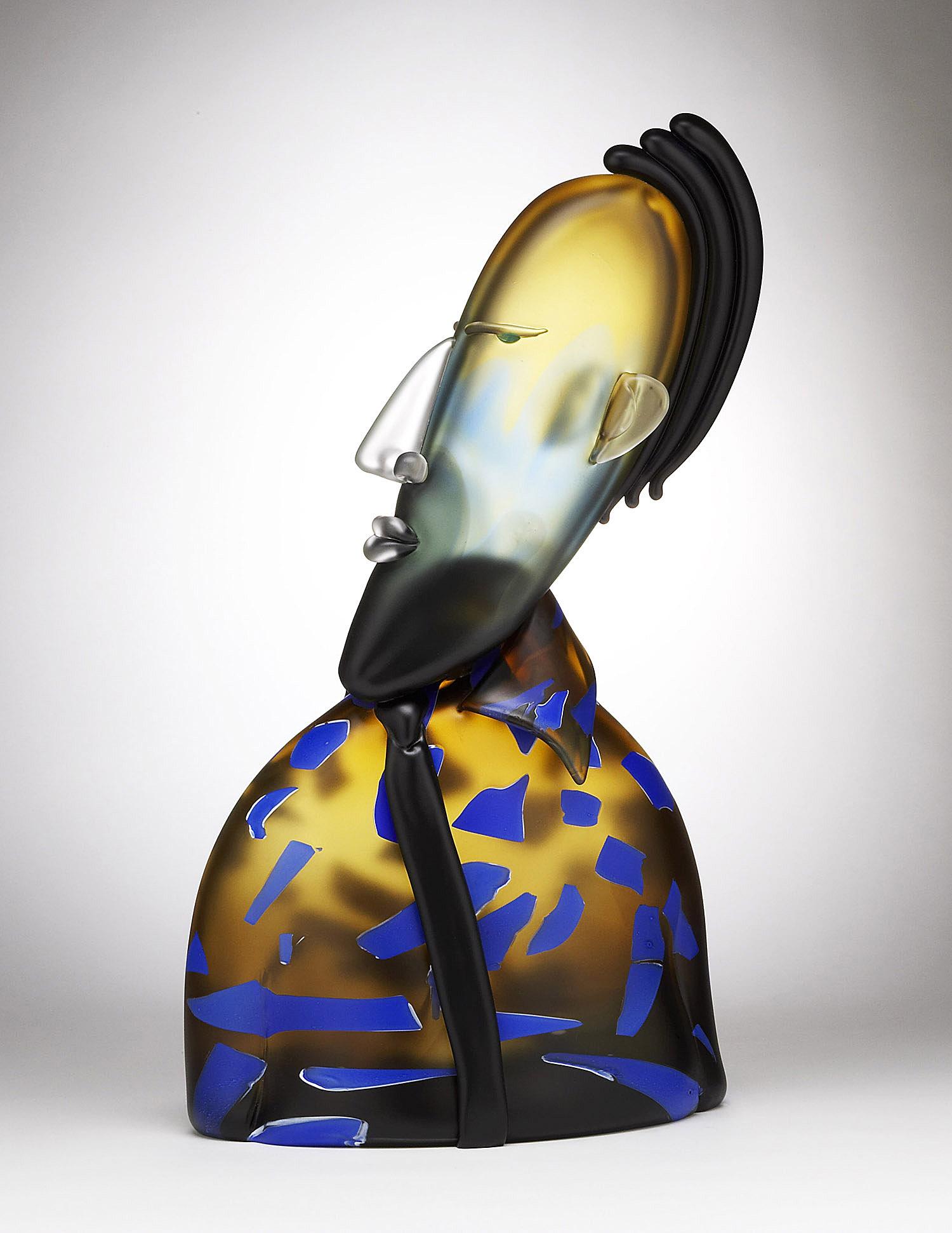 "Impostor   2005. Blown glass. 26¾ x 15 x 7½"""