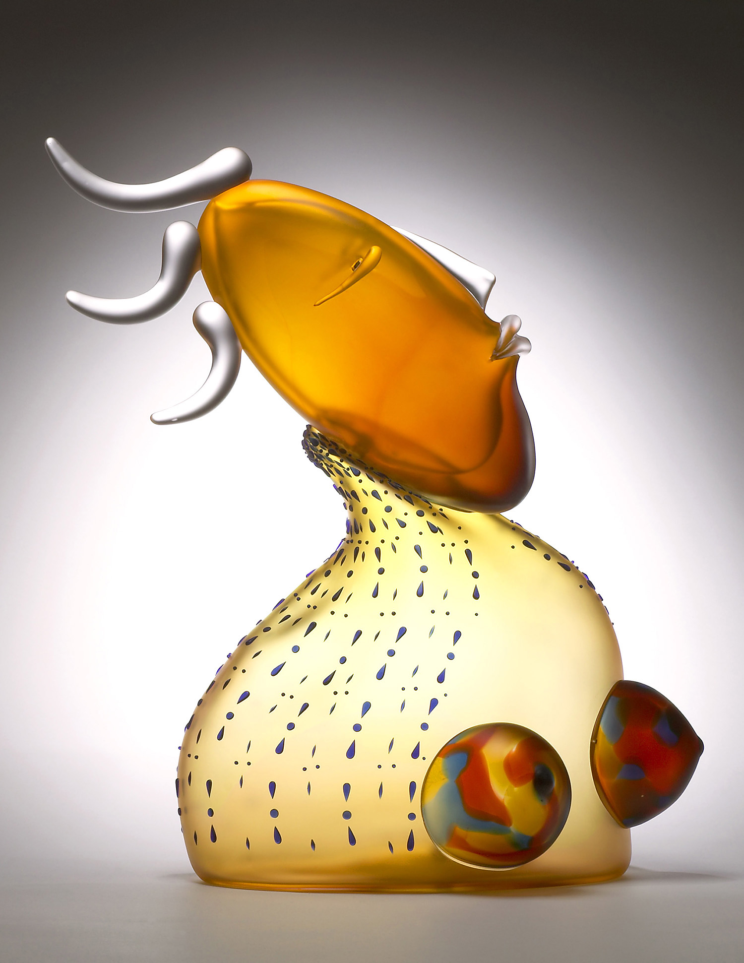"""Woman with Colorful Breasts   2005. Blown glass. 23 x 16½ x 10½"""""""