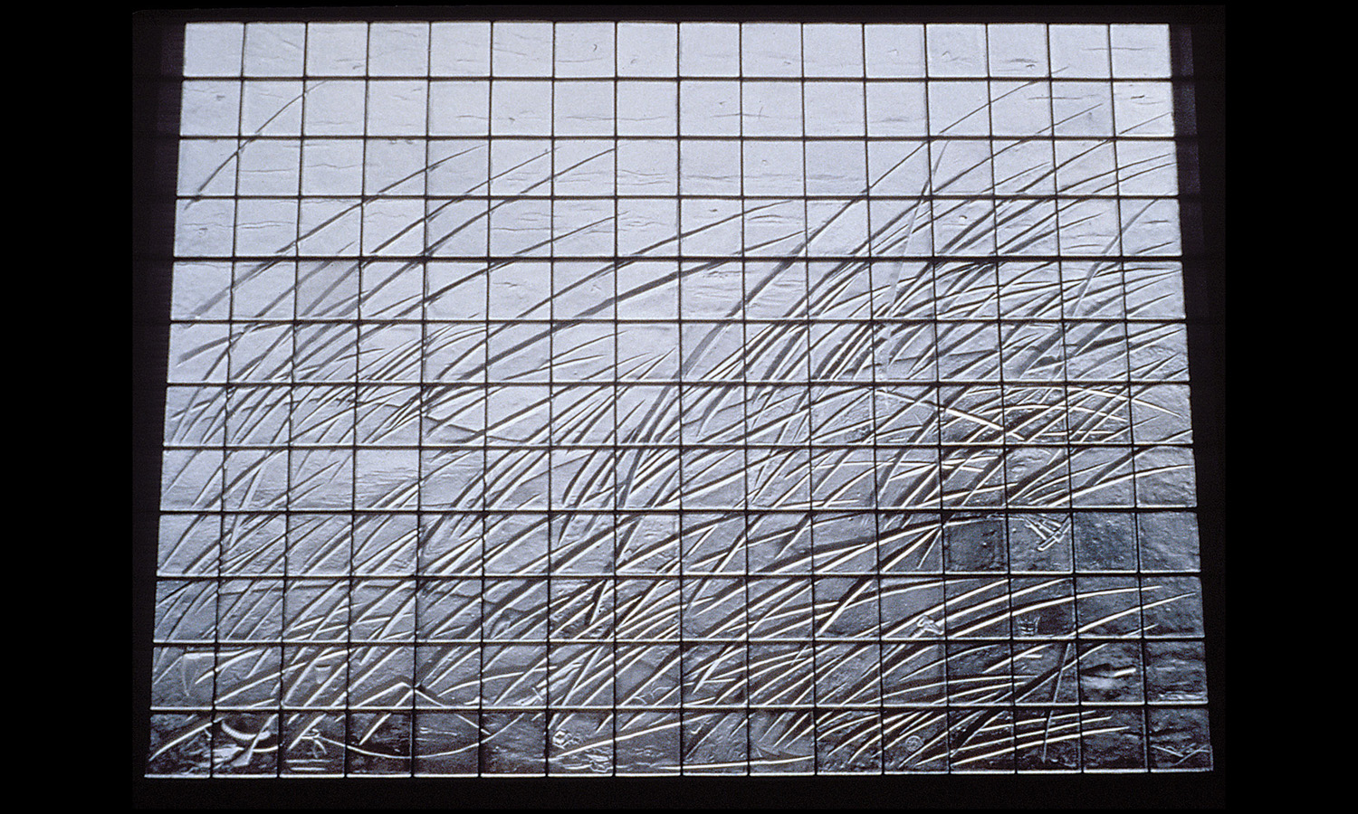 Grass in Wind   1990. Cast glass, stainless steel. 12 x 16 feet. Northern Essex County Courthouse, Newburyport, MA