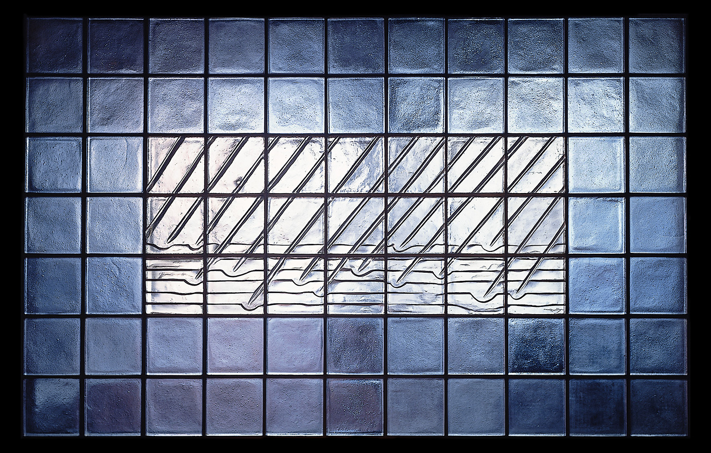 Rain on Water   1989. Cast glass, stainless steel. 7 x 11 feet. Boston Children's Hospital, Boston, MA