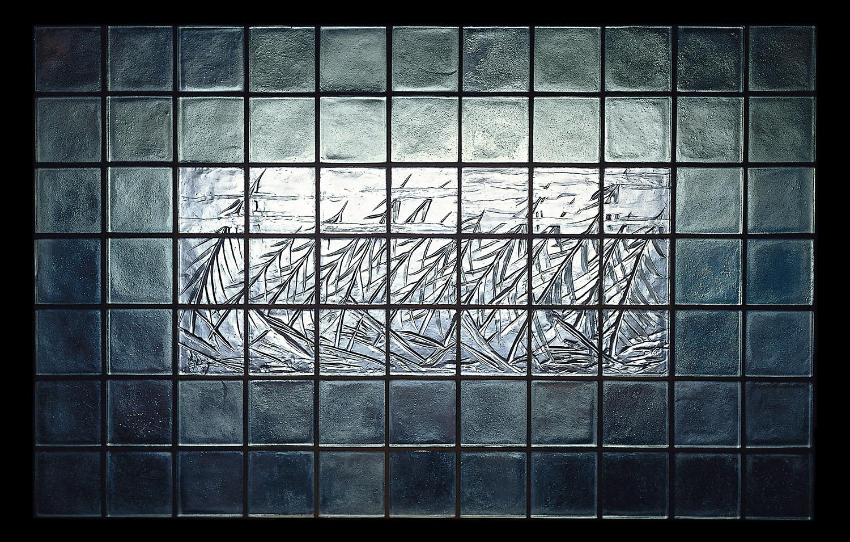 Trees in Wind   1989. Cast glass, stainless steel.7 x 11 feet. Boston Children's Hospital, Boston, MA