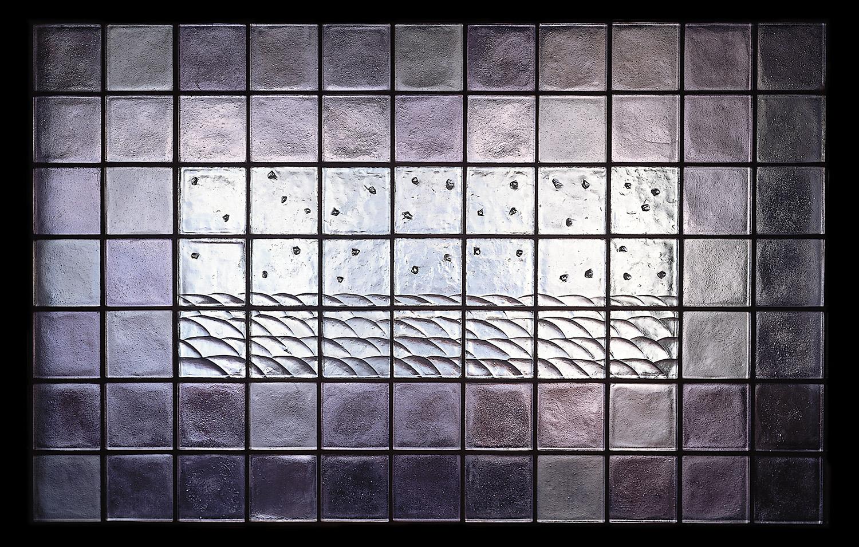 Rolling Fields   1989. Cast glass, stainless steel.7 x 11 feet. Boston Children's Hospital, Boston, MA