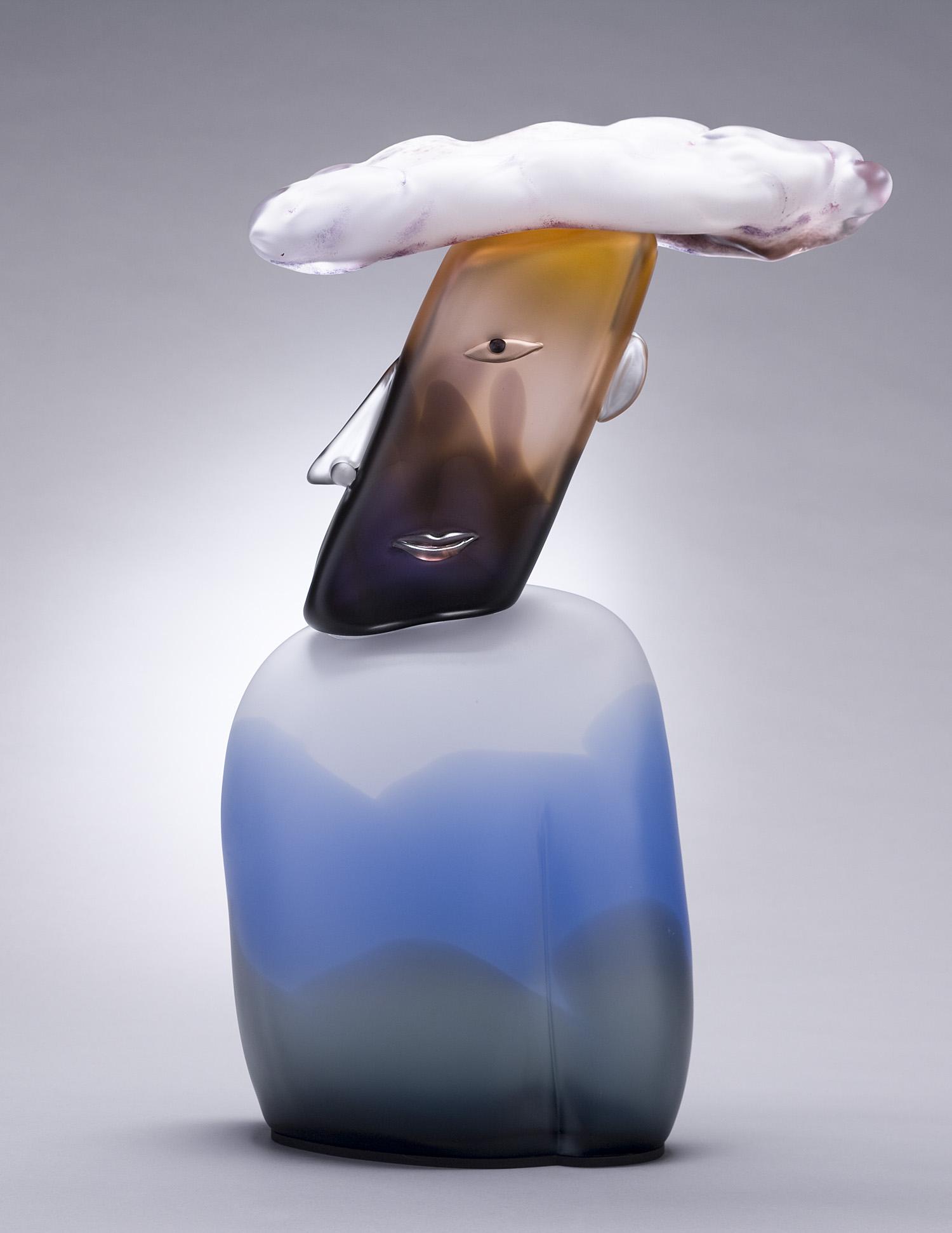 "Cloud   2007. Blown glass, aluminum. 26½ x 18 x 5½"""