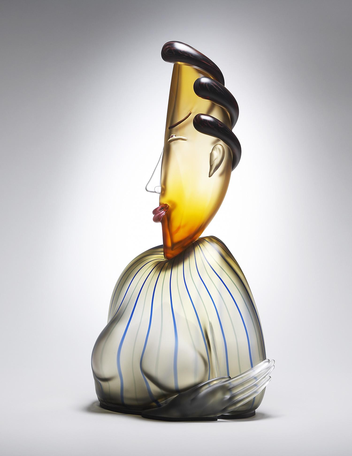 "Virtue   2006. Blown glass, aluminum. 27 x 13 x 7"""