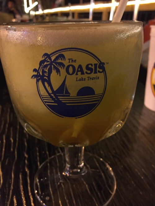 That's a margarita with an amaretto floater*. Oh, so good. * For the record, I wasn't driving.