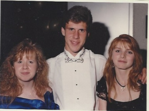 Jenny, my high school best friend. Our friend, David, and me with the flattest hair in the picture! Jenny is a stand-up comic in OKC now. David is a public school teacher in the town where we grew up.