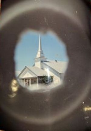 Chapel Through a Styrofoam Cup. Thanks to my friend, Jenny Godwin.