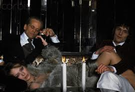 """Klaus, Murray and a chick wearing a fur look thrilled to bits about being in """"Madame Claude."""""""