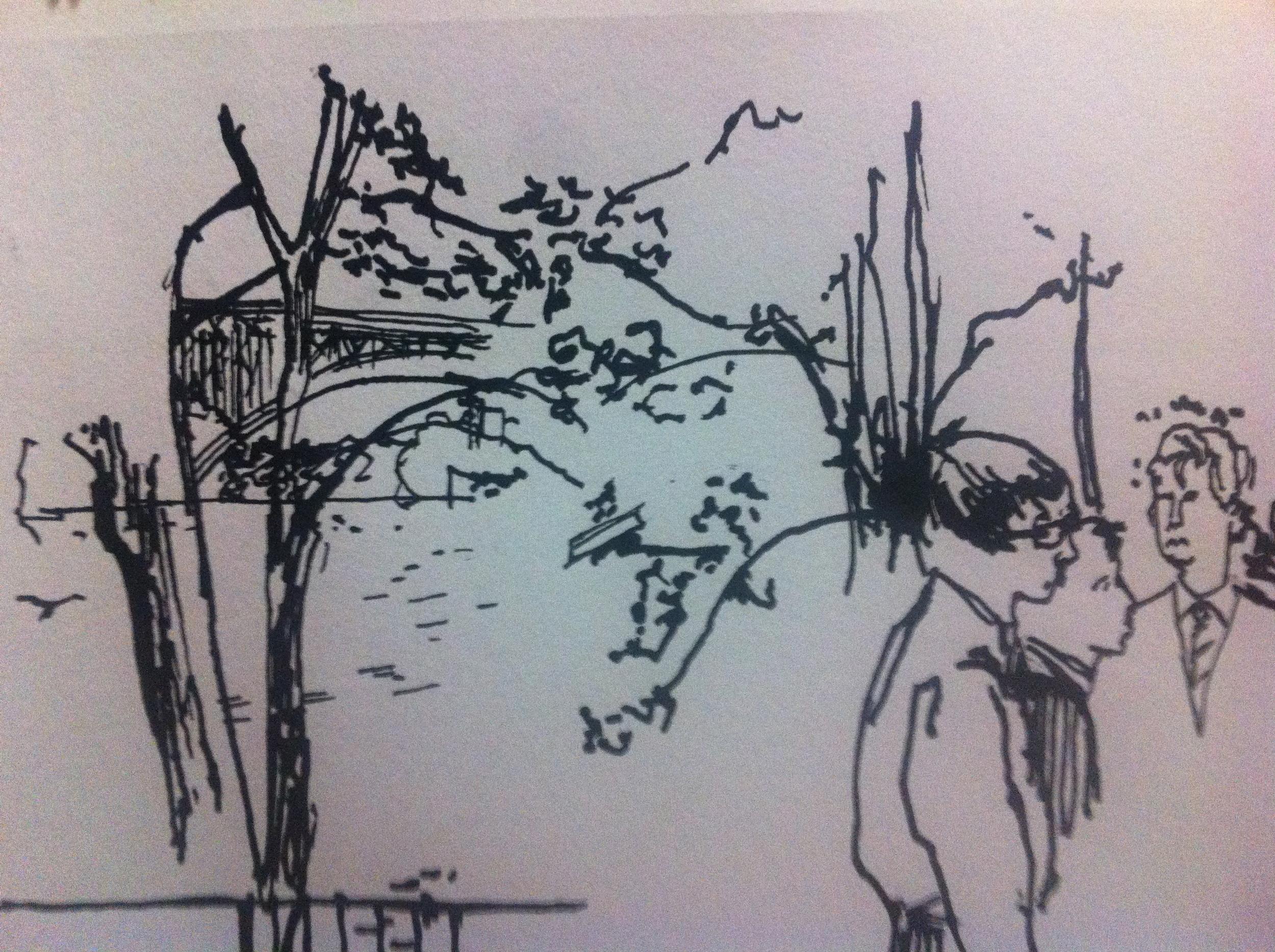 On-set sketch of Bowesmen