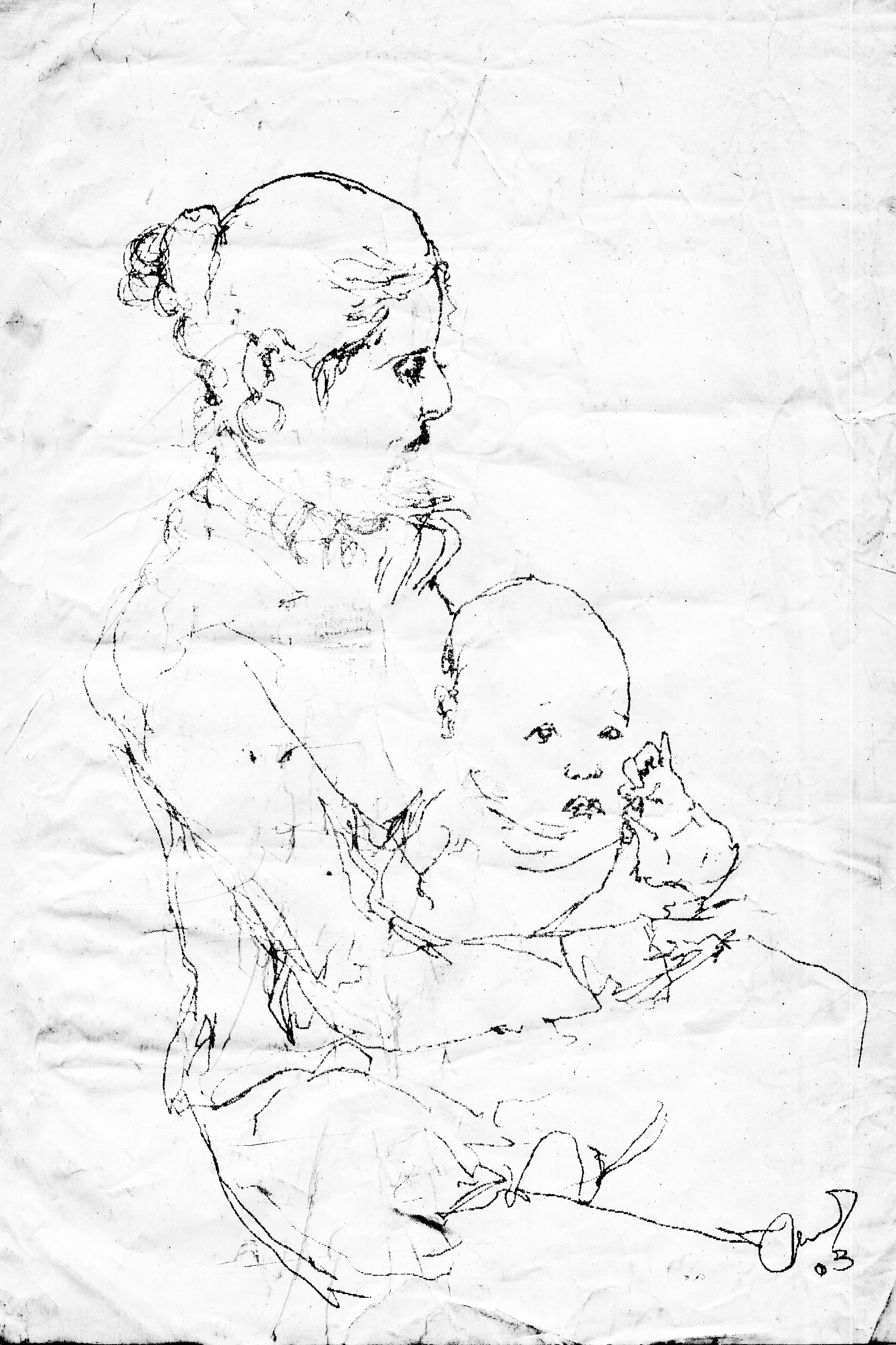 Girl w/baby – 2003