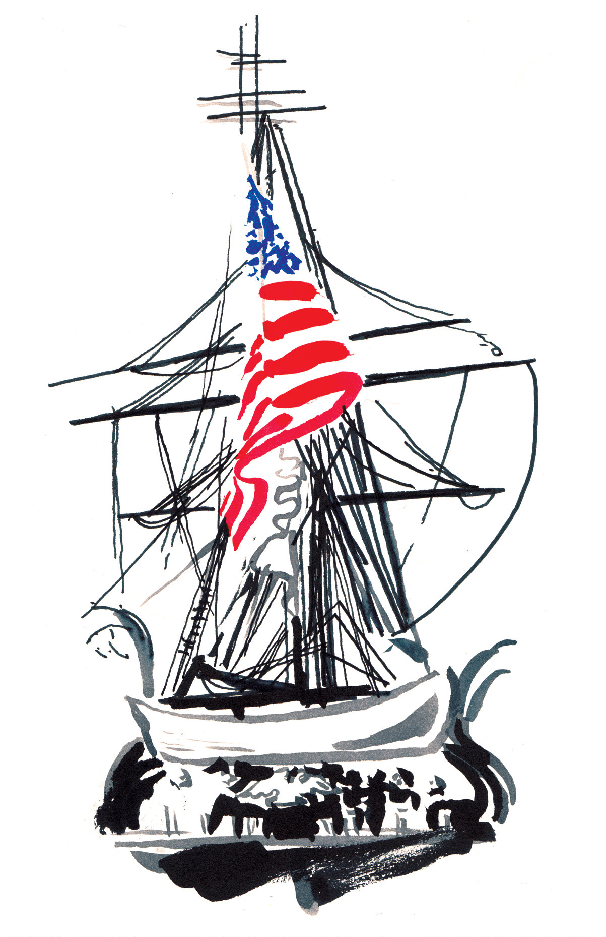 Behind the U.S.S. Constitution