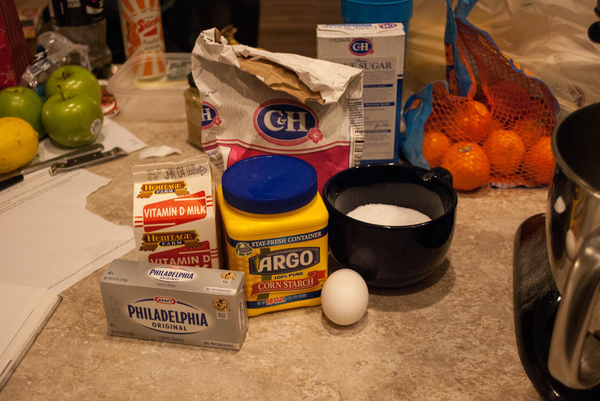 Liquid cheesecake ingredients