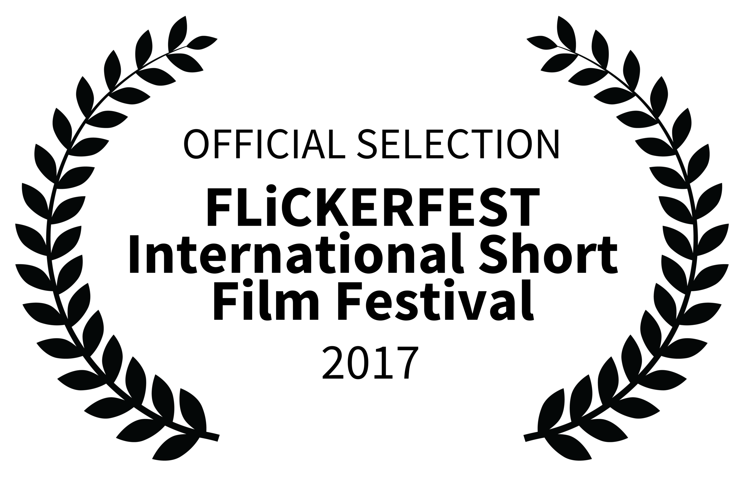 Laurels - Official Selection FLiCKERFEST International Short Film Festival 2017 (black on white trans).png