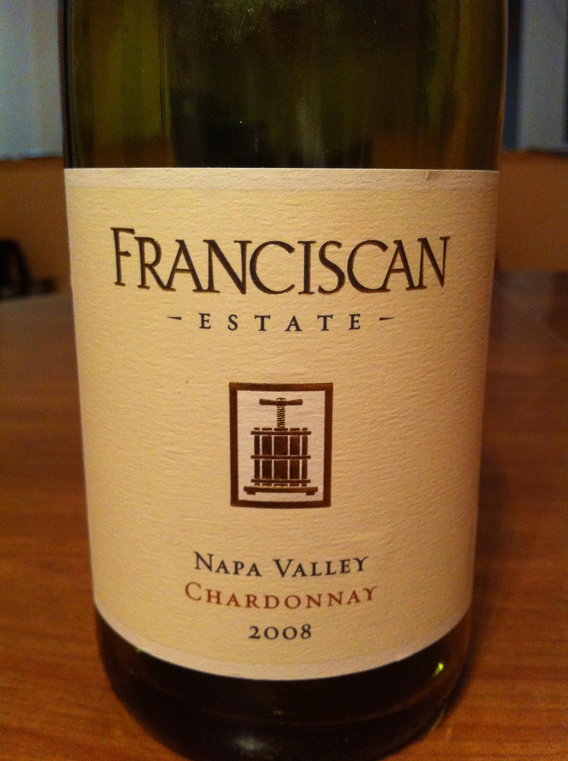 Featured wine Franciscan Estate Chardonnay 2008