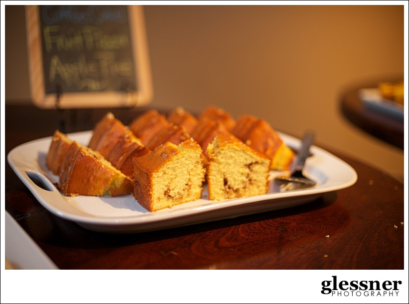 coffee cake at a jungle inspired baby shower at The Loft at Union Square in High Point, NC by Glessner Photography