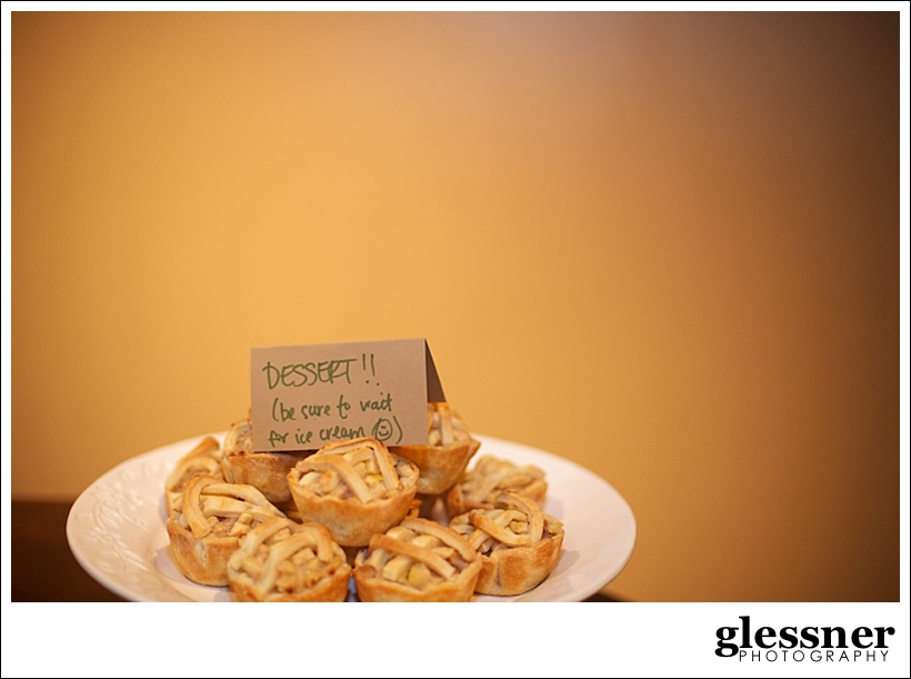 mini apple pies at a jungle inspired baby shower at The Loft at Union Square in High Point, NC by Glessner Photography