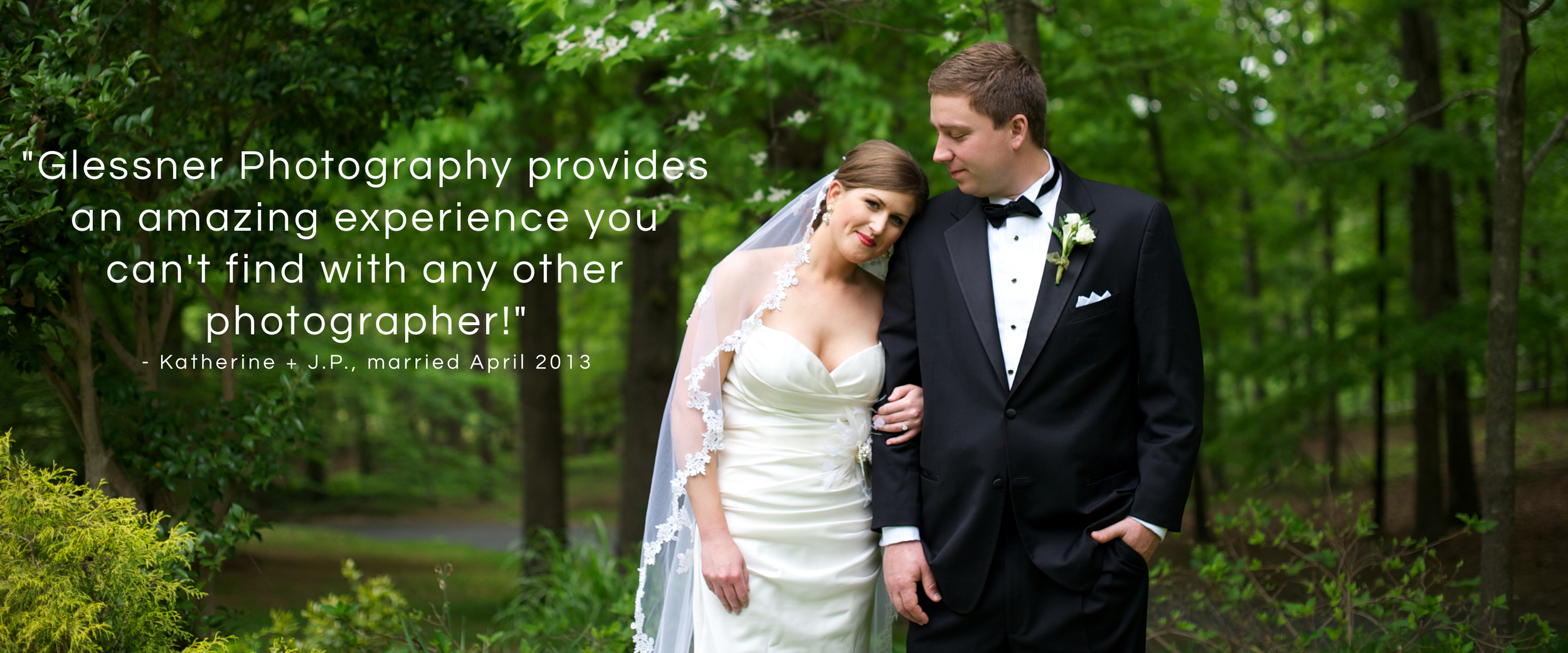 """J.P. Perkins and Katherine Henry's Asheboro, NC wedding was held at the Henry family home. The bride and groom said of their Asheboro wedding photographers, """"Glessner Photography provides an amazing experience you can't find with any other photographer!"""""""