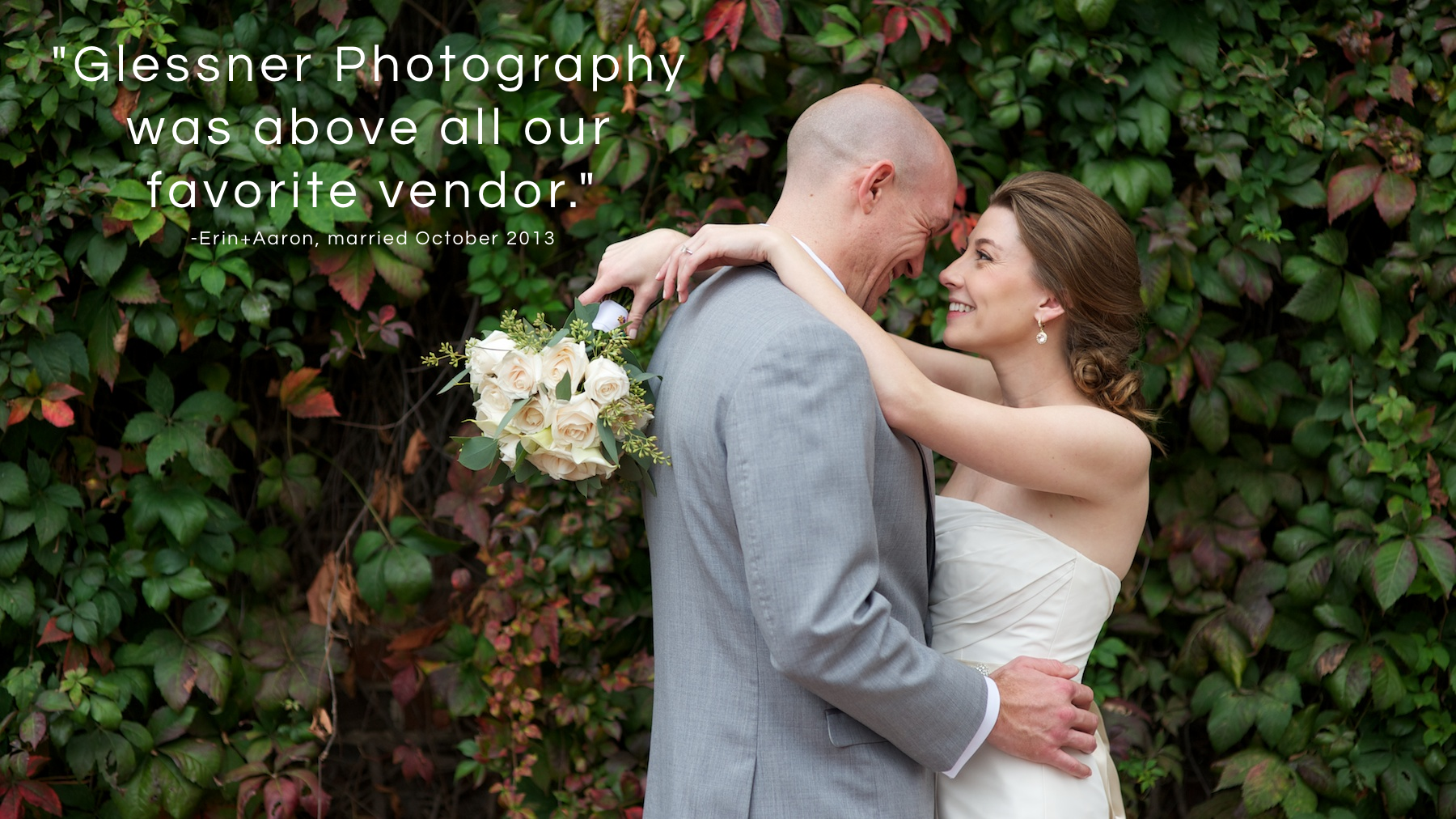 "Erin Johnson and Aaron Afarian's Winston-Salem, NC wedding was held at Old Salem Museum and Gardens. The bride and groom say of their Winston-Salem wedding photographers, ""Glessner Photography was above all our favorite vendor."""