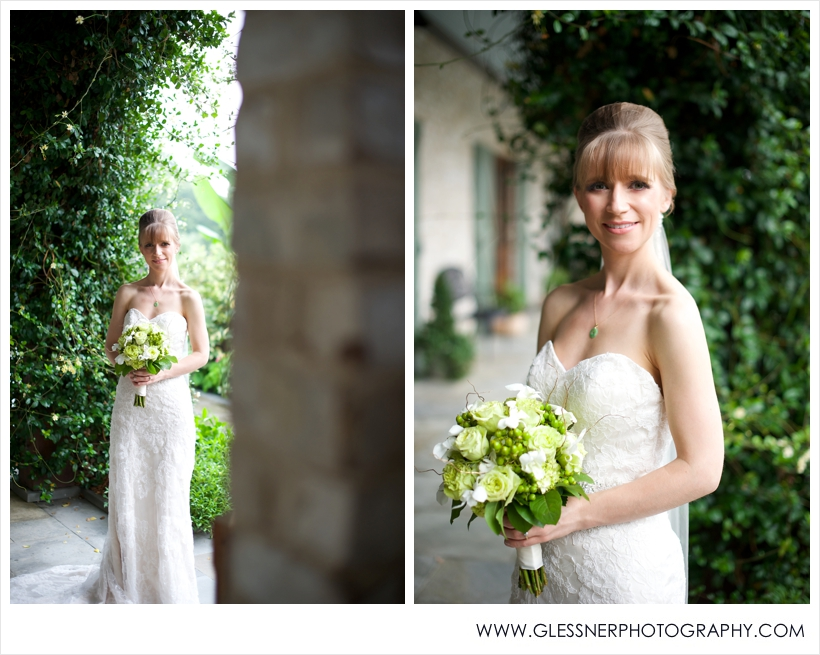 Aksana Vasilyeva's bridal portrait session at Paul J. Ciener Botanical Gardens in downtown Kernersville, NC. Photo by NC wedding photographers Glessner Photography.