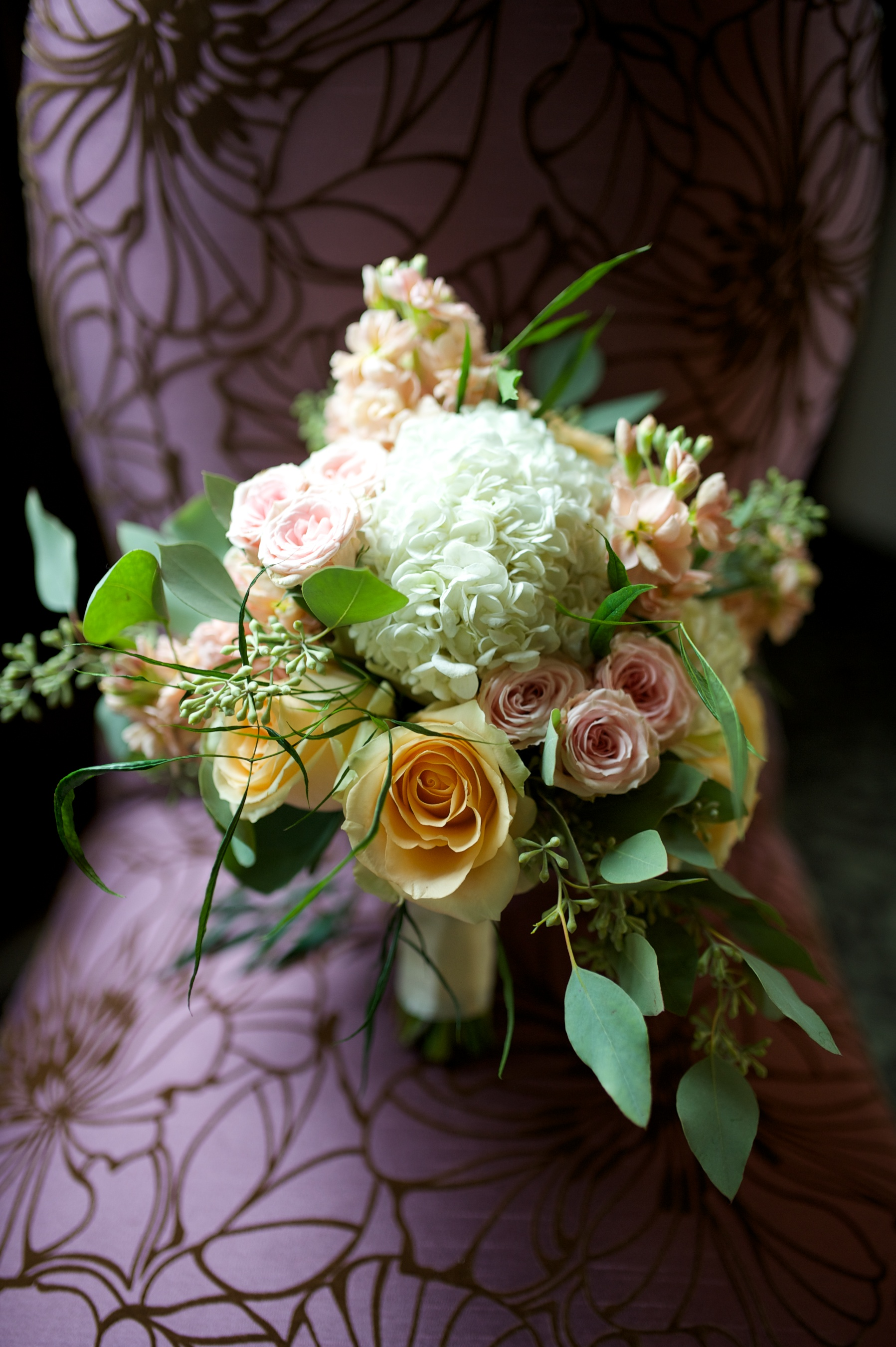 Wedding bouquet designed by Charlotte florist New Creations Flower Company