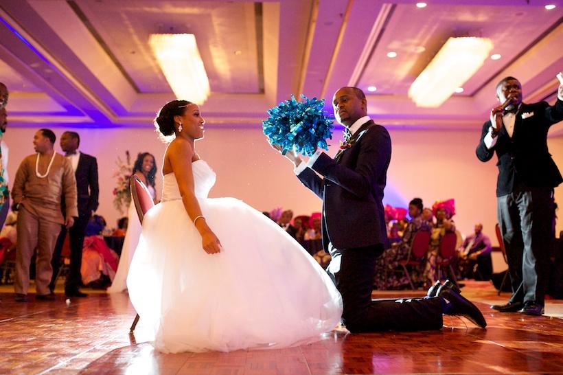 Chika Nwankwo and Joseph Kadiri's reception at Greensboro wedding venue the Downtown Marriott