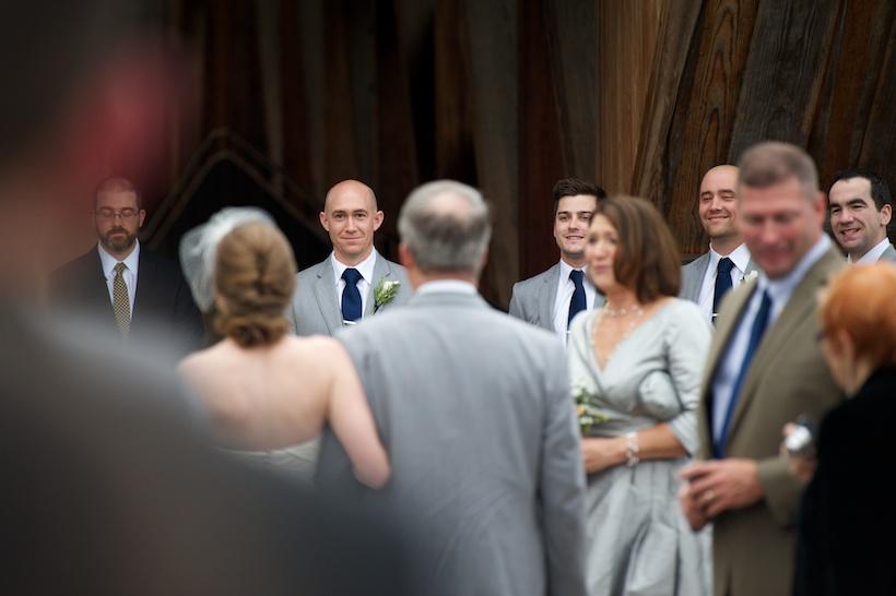 Erin Johnson and Aaron Afarian's ceremony at Winston-Salem wedding venue Old Salem