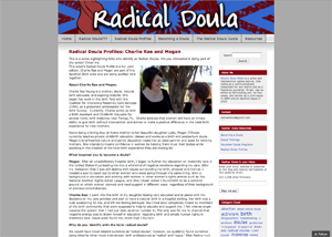 Radical Doula   Radical Doula Profiles: Charlie Rae and Megan