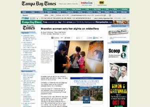 Tampa Bay Times   Brandon woman sets her sights on midwifery  by Sarah Whitman