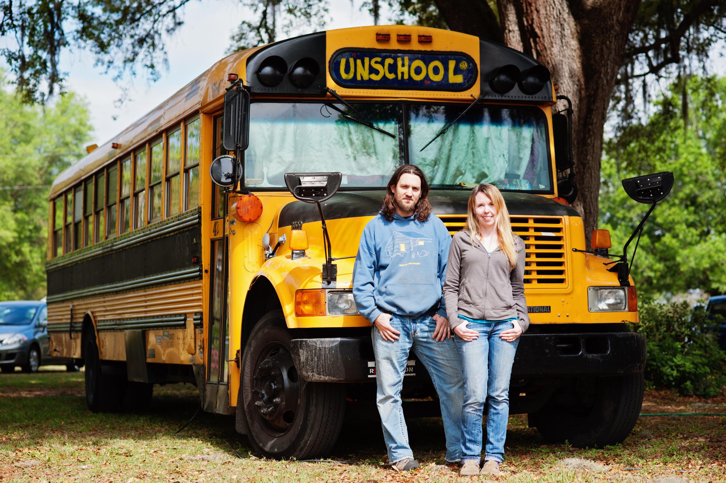 Jeff & Kelly Halldorson of The Unschool Bus   http://www.unschoolbus.com/