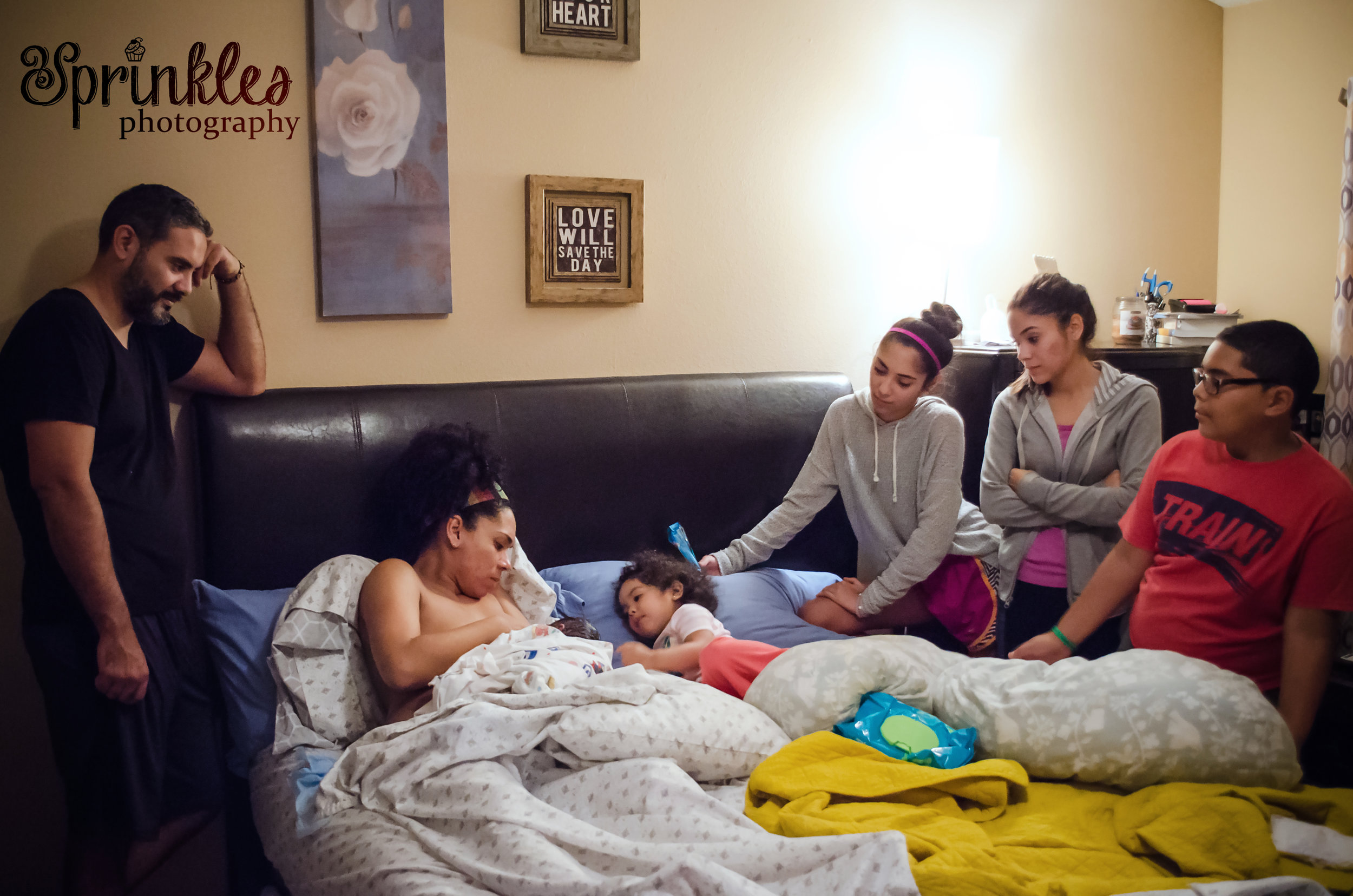 family at a home birth midwives brandon florida