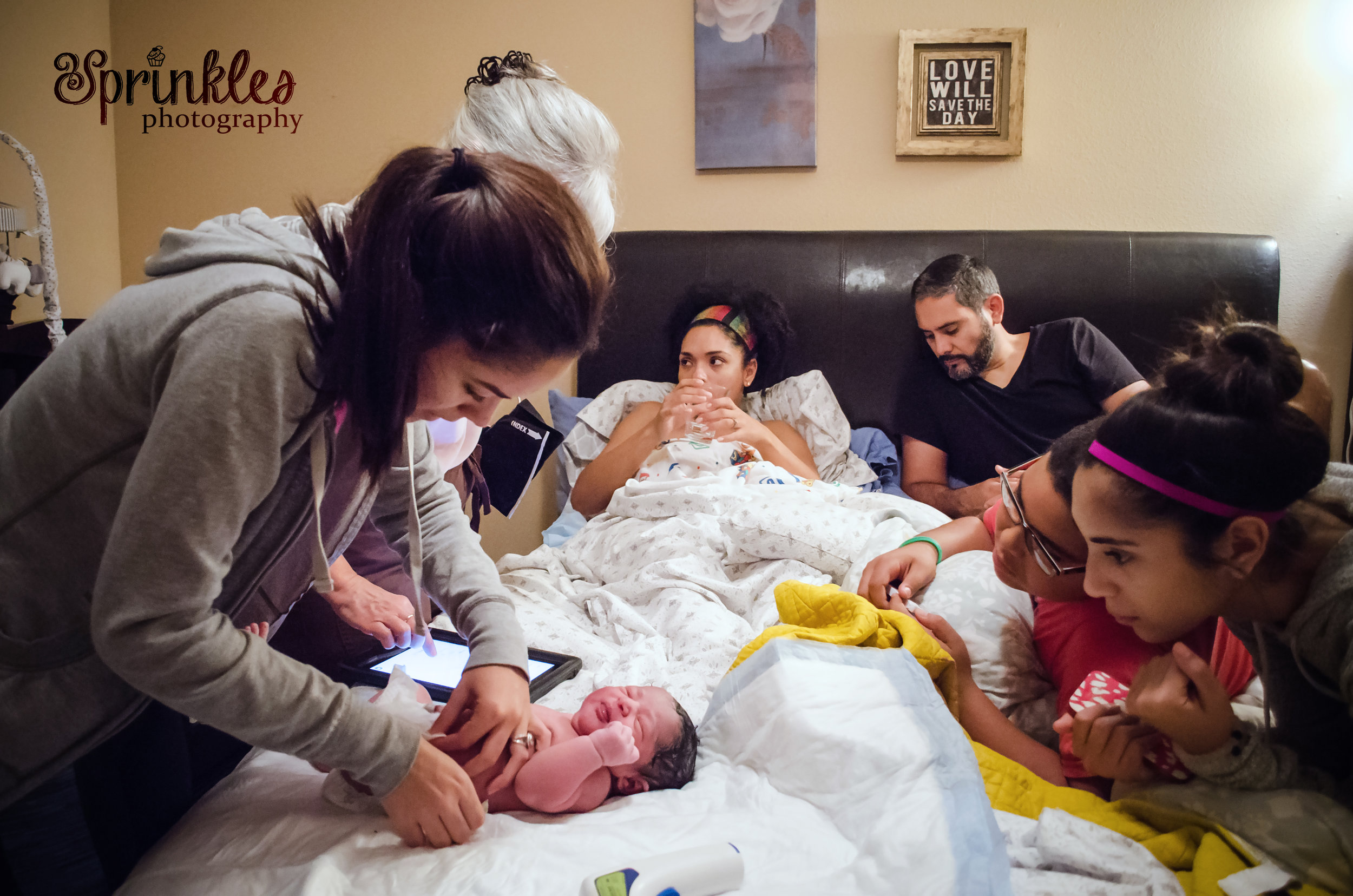 sister with baby at home birth brandon florida