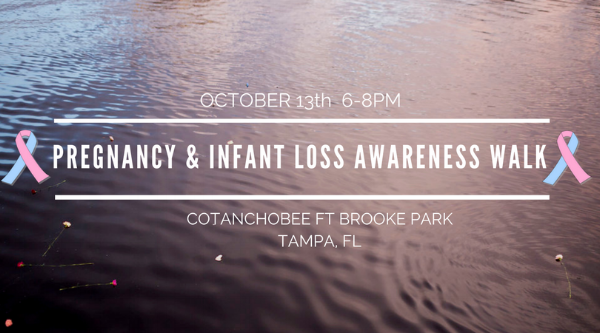 infant loss, pregnancy loss, tampa, tampa riverwalk, downtown tampa, community support, grief, grief support,