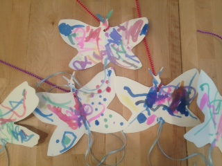 Butterflies, by our 2 and 3 year olds