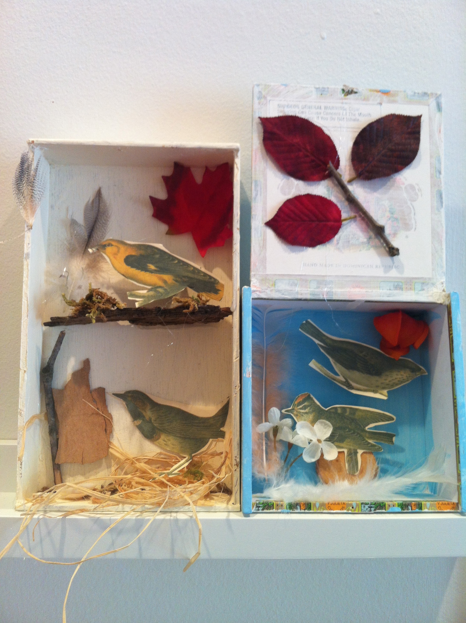 Our very own Joseph Cornell inspired dream boxes. Ages 7-10