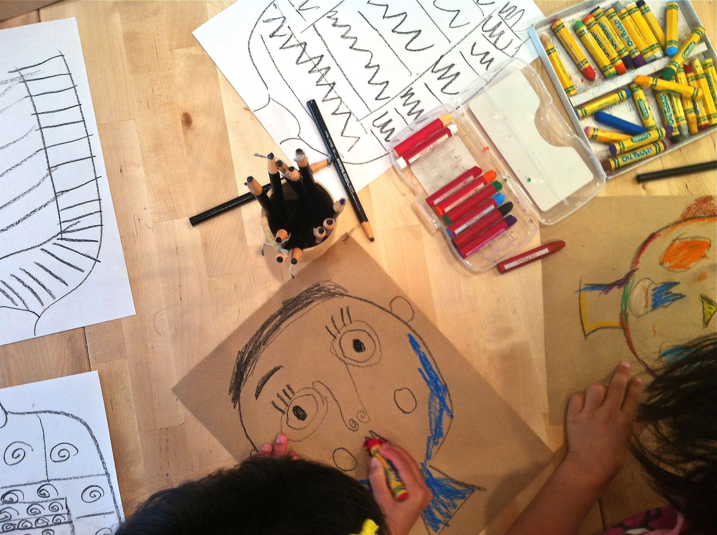 We studied Picasso faces in our Art History in the Afternoon (ages 6-7) series.