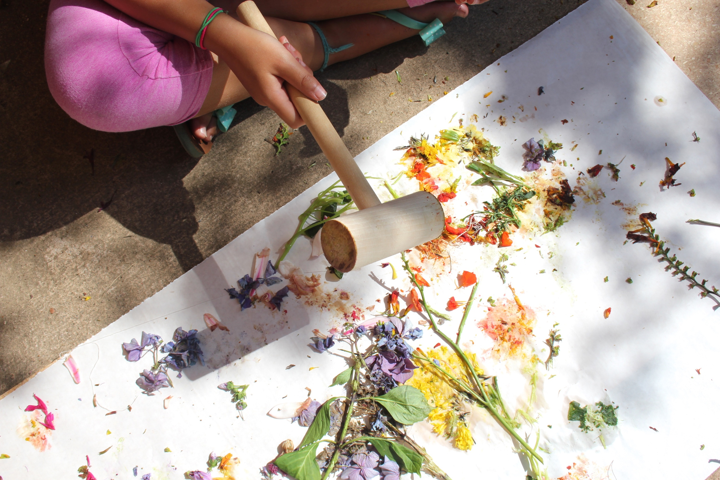 Having a bad day? Grab a mallet and practice the zen art of flower smashing....
