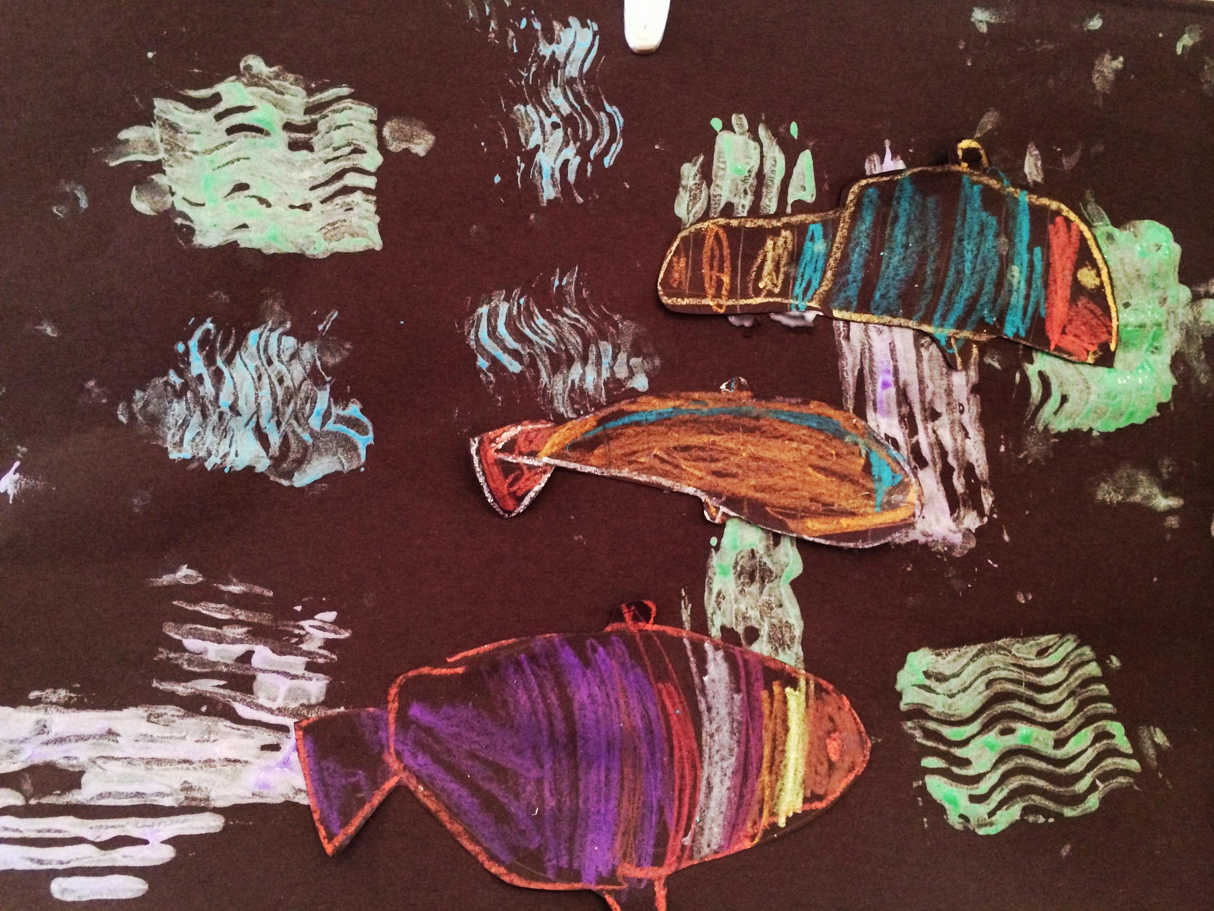 Paul Klee school of fish.