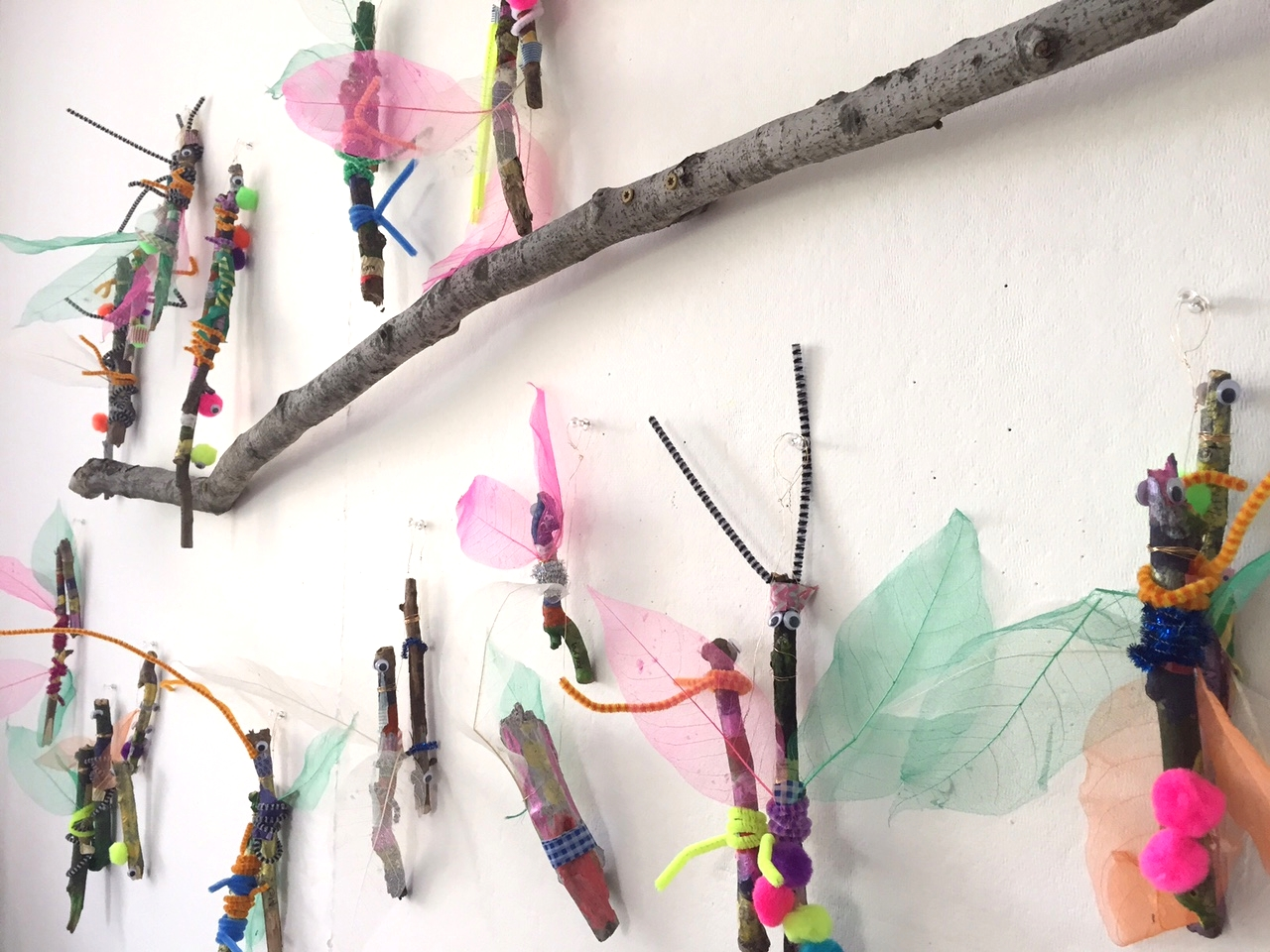A flight of stick insects at Little Loft.