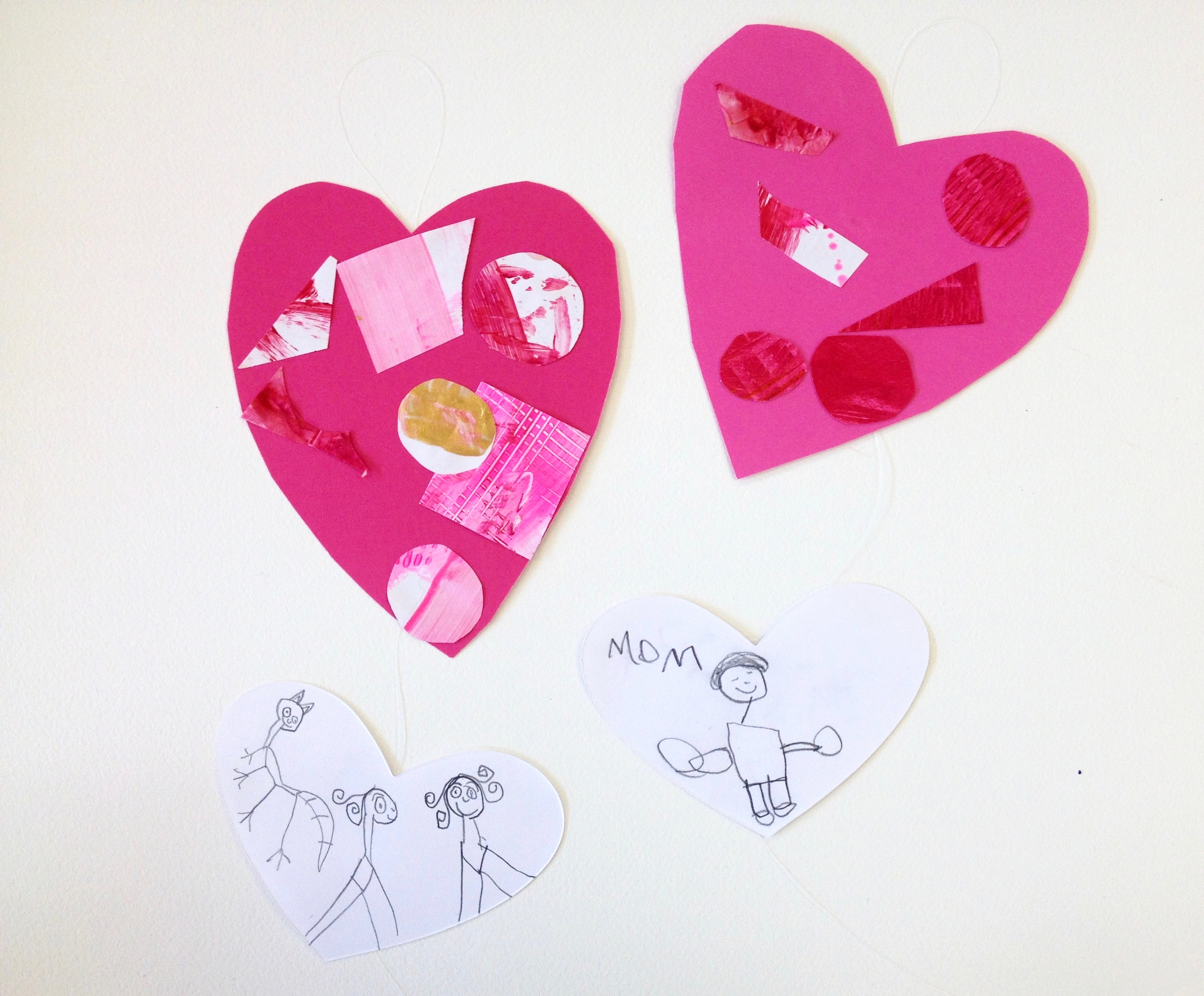 Invisible string valentines-ages 5 and 6