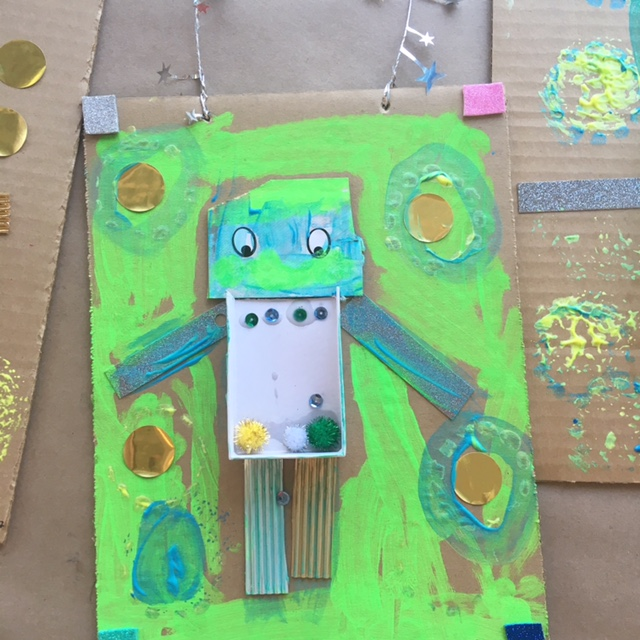 Robot/ Alien Collage (Age 4 and up)