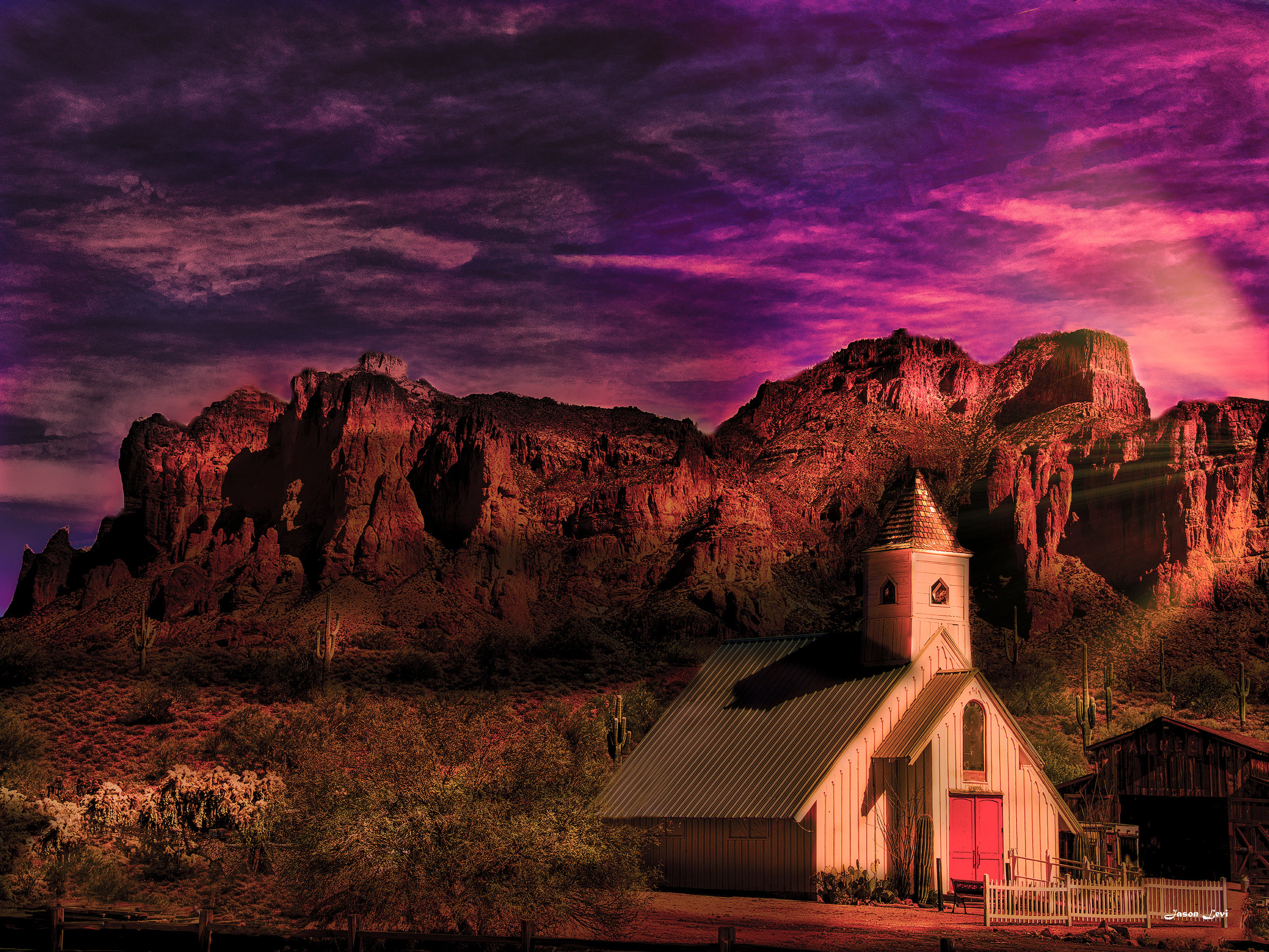 Dawn at the Superstition Mountains
