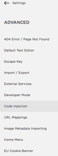 """Then Click """"Code Injection"""""""