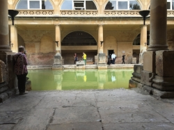 Bath, UK. This scene in the Roman Baths was photographed only this June (2016). It took me a long time to finally make it and when I did, I was very moved to be in that place, in the imagined position that was so significant to my character.