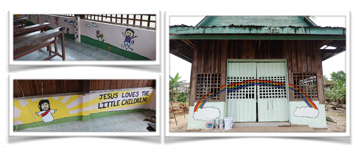 Mural Painting at Ps. Rithy's Church Compound