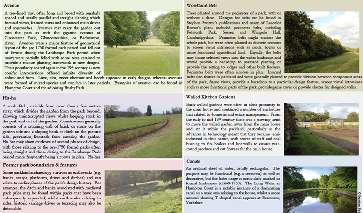 We put together a 'toolkit' of parkland features for use by Natural England officers.