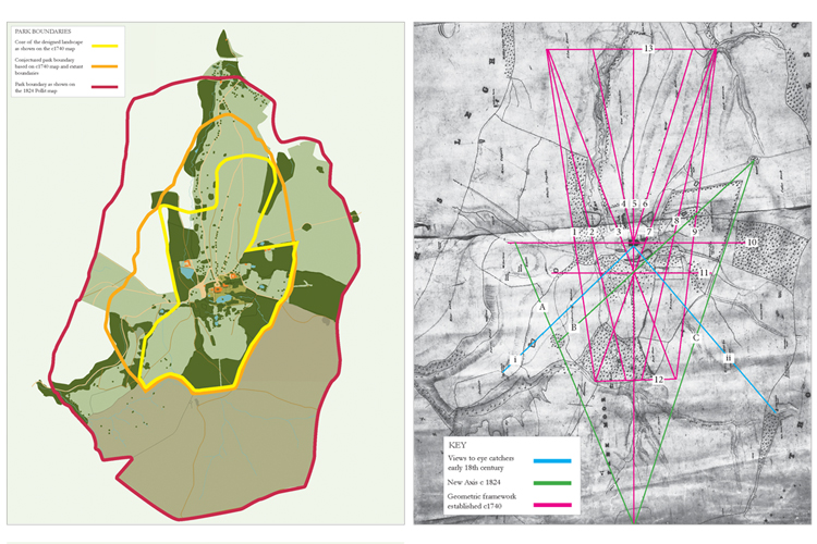 Analysis of the historic design revealed the evolution of the park boundary and a striking geometric framework.