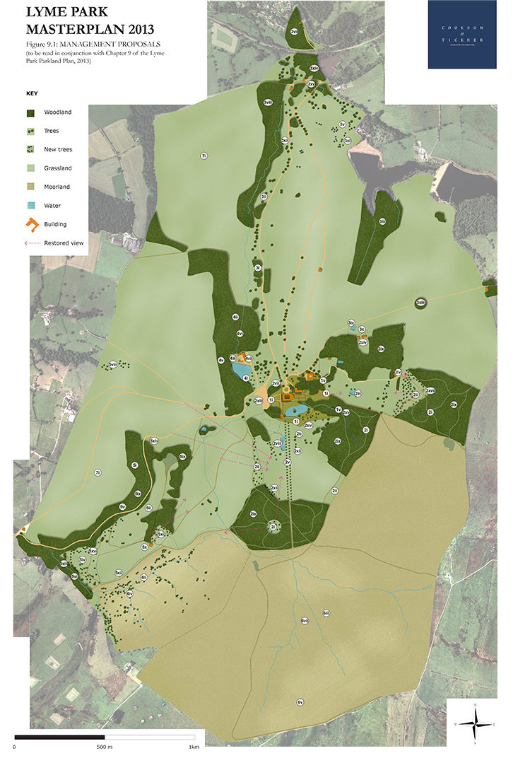 The Masterplan we created to illustrate our proposed management actions for the Park.